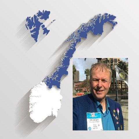 NY GUVERNØR FRA RØROS: Ole Jørgen Kjellmark blir guvernør og skal styre halve Rotary-Norge.