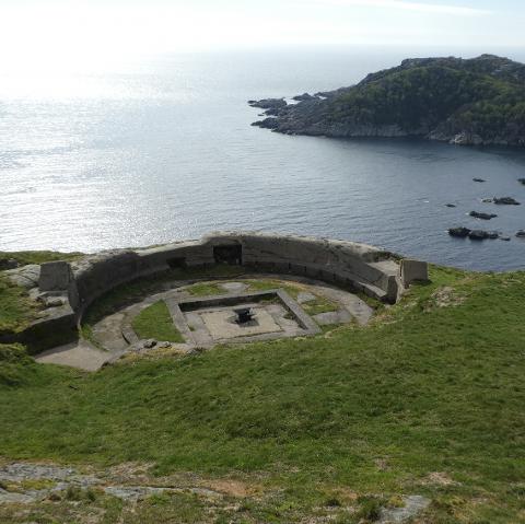 KULTURMINNE: Krigsminnene på Hidra som her på Hågåsen og Grønnes Kystbatteri skal innarbeides i kulturminneplanen for Flekkefjord.