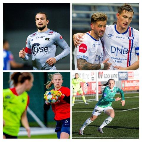 PROFF: Veton Berisha, Johan Lædre Bjørdal, Oda Bogstad og Ida Hetland Pedersen spiller alle på det øverste nivået i Norge.