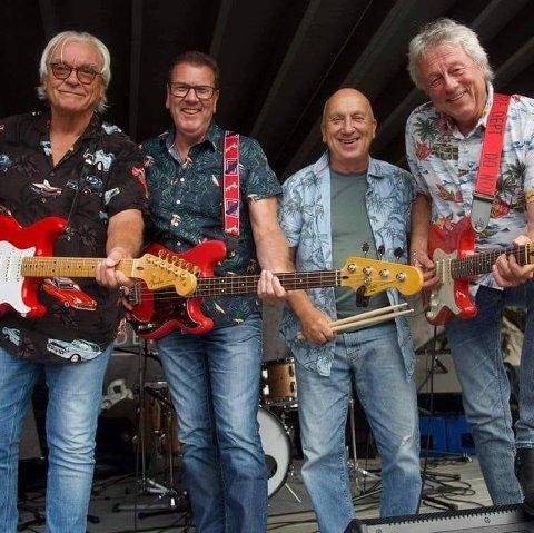 The Stingrays består av Tore Heggelund (f.v.), Leif Lillejordet, Magnar Bergo og Even Trygve Hansen.