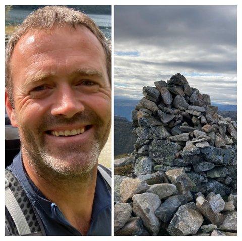 Jim Tungland er glad i turområdet rundt Frafjordhatten og tok ansvar for å bygge opp varden som hadde forfalt.