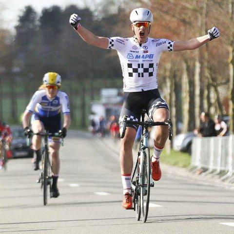 På hugget: Elitesyklist Marius Wold har virkelig fått opp dampen, og er i kjempeslag om dagen.foto: privat