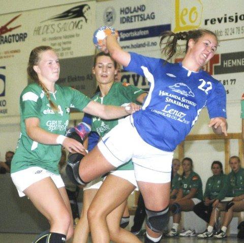 Deltar: Håndballspiller Lise Bergan-Foss fra Høland.foto: øivind eriksen