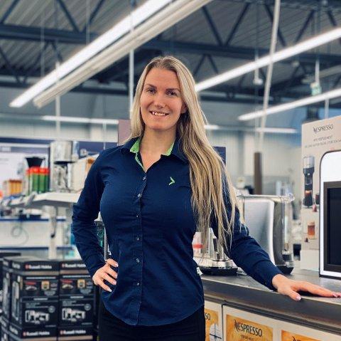 SJEF I VESTBY: Linda Karlsson er kommende sjef for Elkjøps nye varehus i Vestby som skal åpne til sommeren.