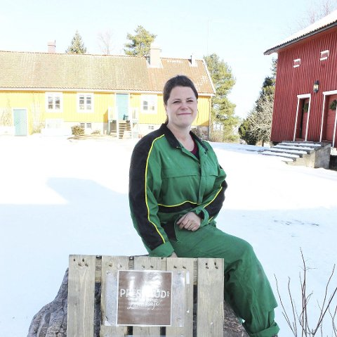 BOLLEVOGN OG ENKEL KAFE: – Mange har lagt oss som mål for gåturen sin. Det synes jeg er veldig gøy, sier Henriette Prestrud.