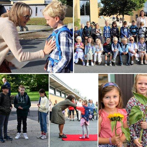Amta var på plass da på alle barneskoler i Frogn mandag. Her får du alt du bør vite om første skoledag.