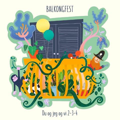 Balkongfest: Hva gjør folk på verandaen sin i koronatider? Singelen Balkongfest gir et svar.