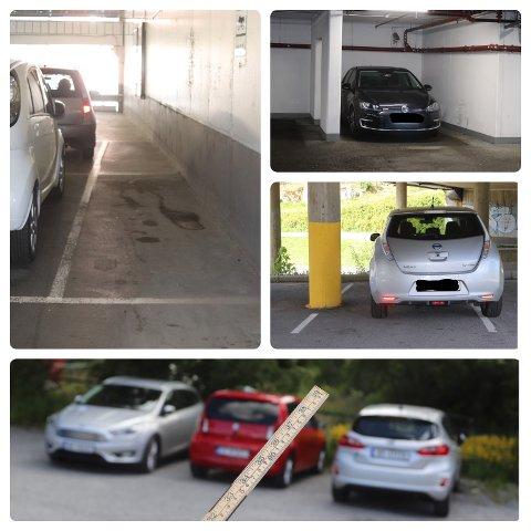 TRANGT OM PLASSEN: Det er ymse parkeringsmuligheter i Follo. Med målestokk i hånd kommer verstingene frem.