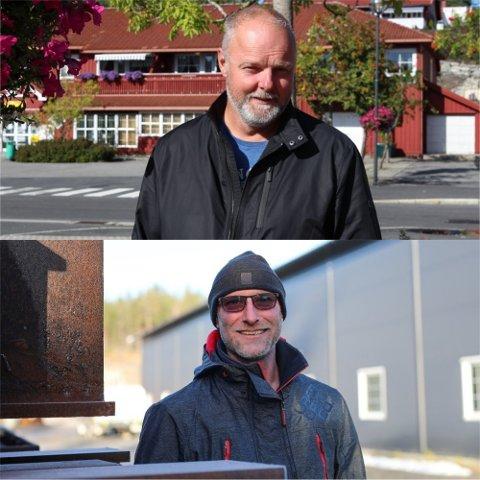 Steinar Pedersen og Rolf Inge Haugholt er to av fem i Gjerstad som har mer enn 10 millioner i formue.