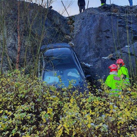 Føraren av bilen endte på legevakta.