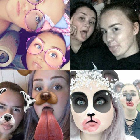 Ingunn og May har hatt Snapchat siden de var 13 år.