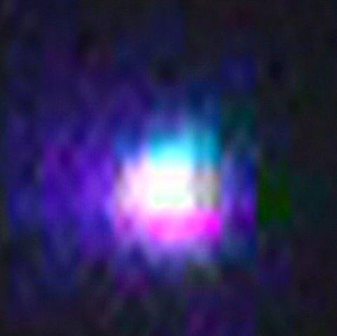 Foto av det stjernelignende objektet, tatt i Samnanger utenfor Bergen