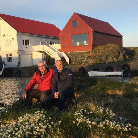 Kvitsøylyd: Anders Olsen (t.v.), Brigt Helgeland og Lasse Pallesen (ikke avbildet) er initiativtakerne bak fellessatsingen Kvitsøylyd.