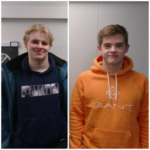 OL I GEOFAG: Daniel Østerberg Haakseth (18) (til venstre) og John Fossmark (17) er de første elevene fra Dalane som har kvalifisert seg til OL i Geofag.