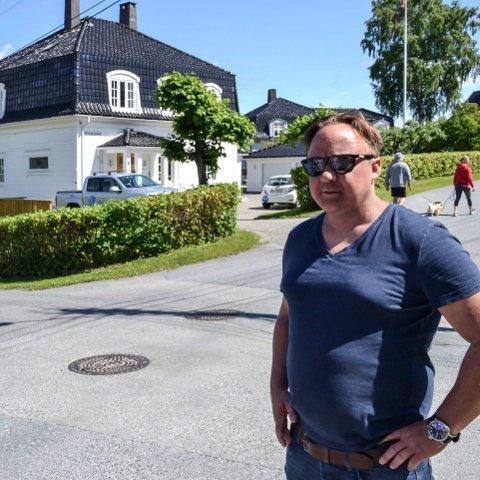 SOLGT: Her skulle han bodd resten av livet, men nå har Andreas Svenkerud Hauger solgt i 4. Strøm terrasse på grunn av jernbanetunnelen som kommer under huset. Bildet er fra 2016.