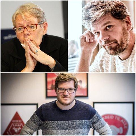 AVFEIER FORSLAGET: Tove Paule, Ståle Sørensen og Eivind Knudsen går ikke med på Frps krav om folkeavstemning.