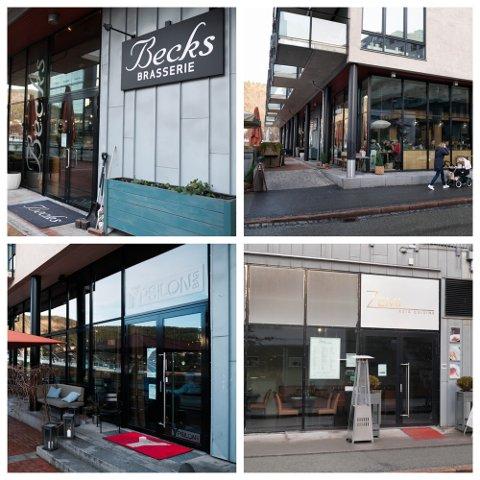 STORT UTVALG: De nye kommunedelene byr alle på ulike restauranter med forskjellige typer mat.