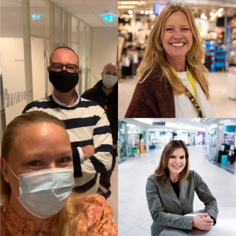 DROPPER BLACK FRIDAY: Kjøpesentrene i Drammen bytter Black Friday ut med Black Week, og kutter ut timestilbudene. F.v. Tone Drazkowski, ø.t.h. Marianne Mevik, n.t.h. Elisabeth Lohk.