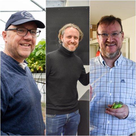 PRIS: Disse tre kjemper om å vinne årets «Grønn gründer»-pris.