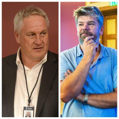 ET OPPGJØR OG ET FORSVAR: Kjell Arne Hermansen (t.v.) tar et oppgjør med Ståle Sørensen som han oppfatter som en selverklært smittevernekspert. Samtidig ønsker han å uttrykke støtte overfor ordfører Monica Myrvold Berg.