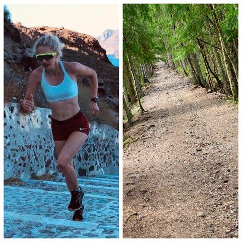 NY REKORD: Solveig Steen Hofstad løp inn til ny rekord opp Pukerudlinna fredag. Den  nye bestetiden på kvinnesiden lyder på 8:05.