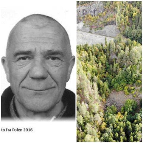 BLE FUNNET DØD: Adam Filipiuk (48) ble funnet død på bunnen av et juv ved Ringeriksveien i Lier: – En svært vanskelig sak, sier politiet.