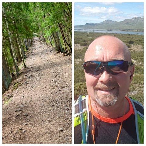BRATT: Terje Njaastad skal gå Pukerludlinna opp og ned i 24 timer i strekk. Han har regnet ut at han burde klare 48 turer i løpet av døgnet han skal holde på.