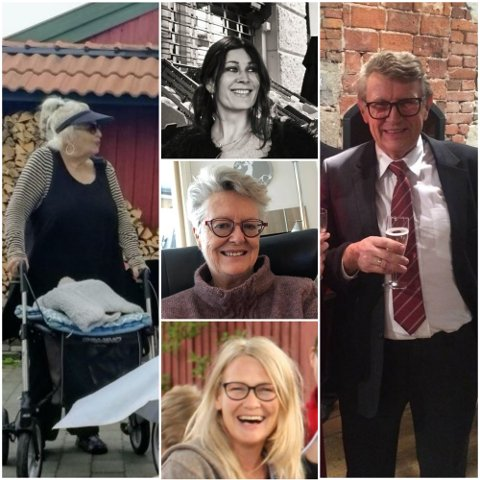 Fra venstre: Gun Marith Madsen (78), Andréa Meyer (52), Liv Berit Borge (75), Hanne Merethe Englund (56), Gunnar Erling Sauve (75).