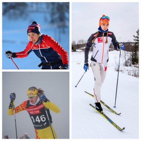 Margrete Bergane, Emma Kirkeberg Mørk og Maria Hartz Melling utgjorde tre fjerdedeler av stafettlaget som gikk inn på pallen lørdag morgen.