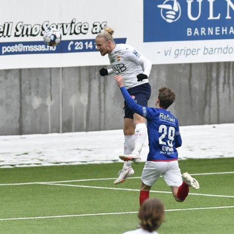 GOD: Lars-Jørgen Salvesen var god de siste 45 minuttene.