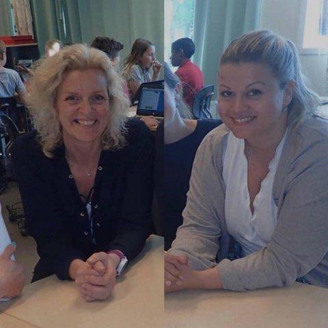 Helga Falch Johannessen og Vilde Caroline Bråthen beskriver en utfordrende arbeidshverdag der en febrilsk prøver å følge smittevernrådene.