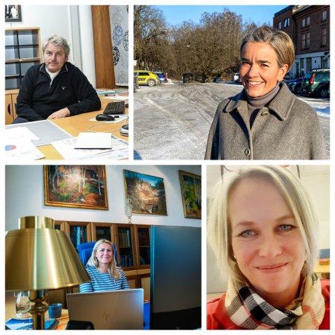 Ordførerne Knut Kvale, Gunn Cecilie Ringdal, Elin Gran Weggesrud og Monica Myrvold Berg har vært underlagt forsterkede nasjonale tiltak siden 16. mars.