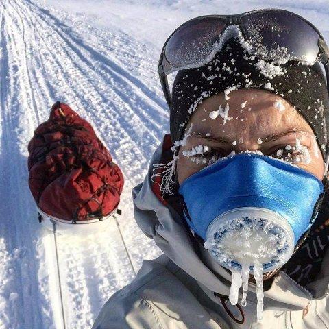 Kaldt: Turen over innsjøen Lake Baikal kommer til å bli en kald fornøyelse. Dette skremmer ikke Gina Johansen (27) som snart er klar for et nytt vintereventyr.