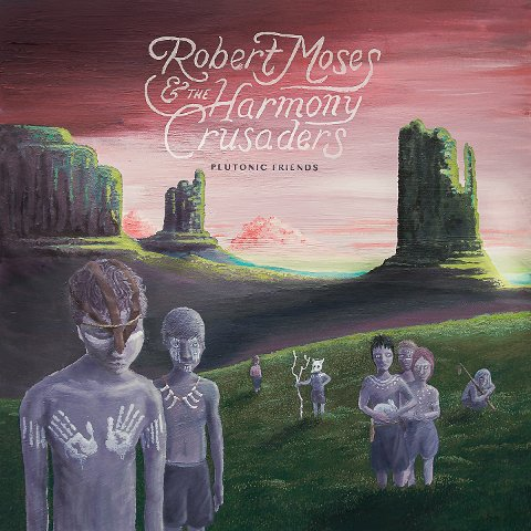 Plutonic Friends- Robert Moses and the Harmony Crusaders. Eit oljemåleri av Thomas Barlund.