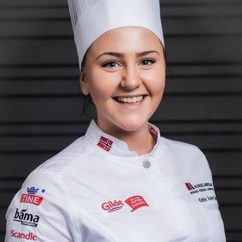 GULLPOENG: Katrine Åsnes Gjesdal er 23 år, men framleis junior. Det norske juniorlandslaget sikra seg ein svært god start på meisterskapen.