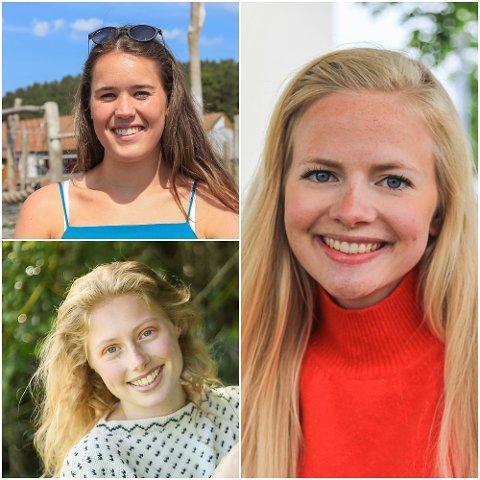 FRAMTID: Vil dei nyutdanna studentane frå Florø flytte heim att etter studia? Oppe til venstre Vilde Kapstad-Nygård, nede til venstre Astrid Småbrekke og til høgre Kamilla Hope Kleppenes.
