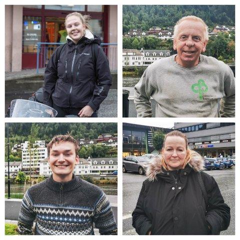 Frå venstre bak: Ine Erika Aamodt (16), Ted Johnsen, Henrik Rygg Lunde (17) og Oddny Savland (40).