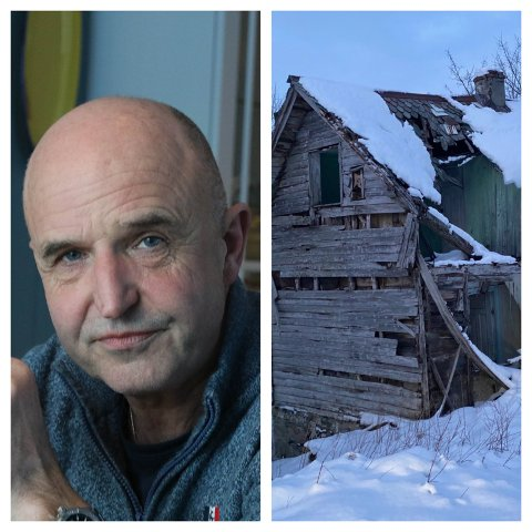 RØNNE: Leif Arne Åsen kjøpte naboeigedommen for nokre månadar sidan. Han søkte om å brenne dette huset, men fylkeskommunen meiner det er eit kulturminne.