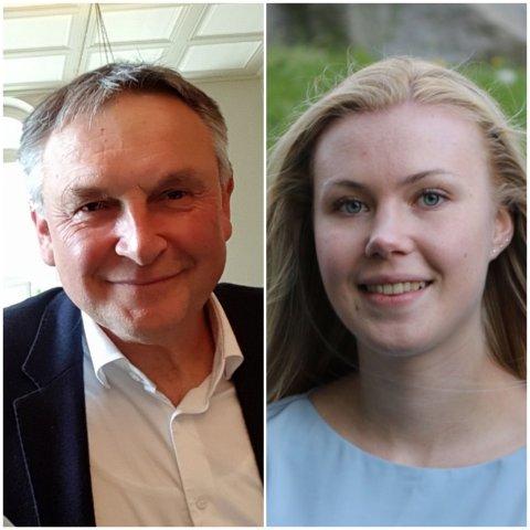 Nummer 1 og 2 på KrFs liste, Lino Lubiana og Kamilla S. Nadrup-Pettersen.