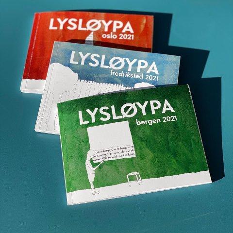 Konseptet er enkelt. «Lysløypa» er en guide i lommeformat som skal vise deg veien til gode tilbud i Fredrikstad sentrum. Byguiden finnes også i Oslo og Bergen.