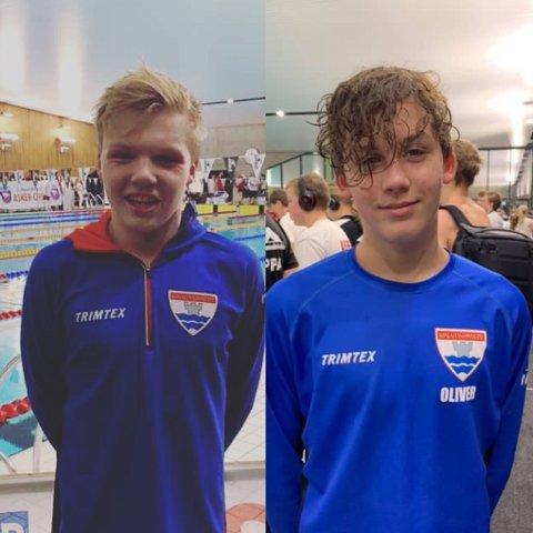 STERK INNSATS: Oliver Danielsen (til venstre) og  Christian Offenberg klarte i helgen kvalifiseringskravet til Ungdomsmesterskapet.