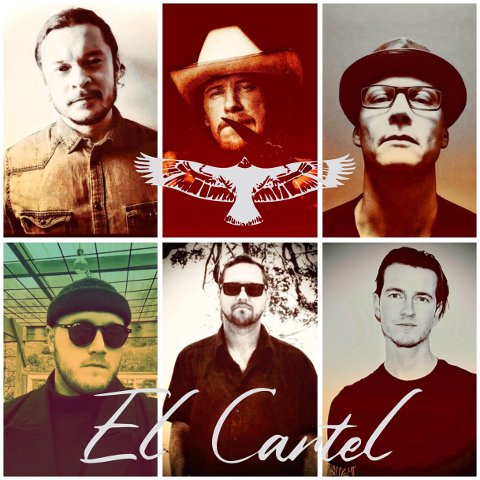 El Cartel består av Richard Ahlsen (øverst til venstre), Emil Northcreek, Jørgen Hansen, Mats André Andersen, Stephan Reis og Brage Leo Saugstad Thøgersen.