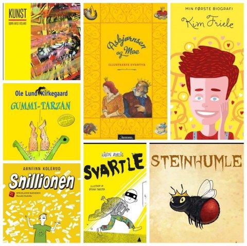 7 gule bøker til påska.