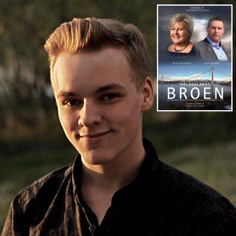 Hålogalandsbroen: Julian Høgset er den unge mannen bak bildet som har spredt seg på sosiale medier i regionen det siste døgnet.