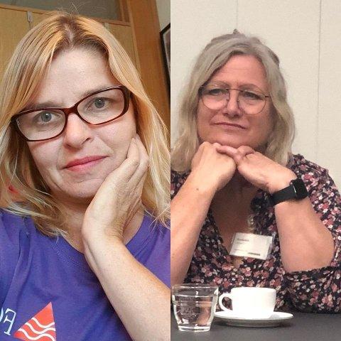 Hovedtillitsvalgt i FO i Horten Mona Mathisen og fylkesleder i FO Vestfold Lise Holm