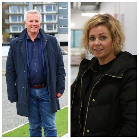 Styreformann i Masiv Magne Svendsen og daglig leder i Jæder Guro Espeland. Begge firmaene er blant de som gir mest i sponsorinntekter til Ålgård FK.