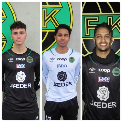 Dette er Ålgårds tre nye spillere. Fra venstre til høyre: Arman Dzankovic, Mohamad Junet Hassan Ahmad og Tomas Belay.