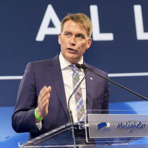 KLAR: Han gikk helt til topps i nominasjonen i Vestfold Høyre.FOTO: HANS KRISTIAN THORBJØRNSEN