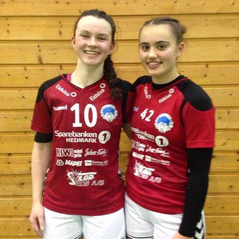 Sara Hjaltadottir og Ingrid Vanebo scoret åtte mål hver mot Øyer/Tretten søndag.