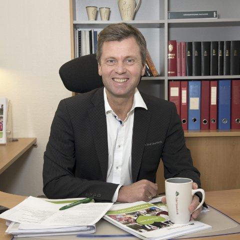 Fornøyd: Administrerende banksjef i Odal Sparebank, Torleif Lilløy, kan smile av fjorårets resultat.